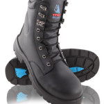 High-Leg Lace-Up Safety Boot